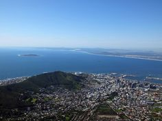 The view from the top of Table Mountain, Cape Town