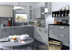 Cuisine Eyre orme gris | décoration | Pinterest | Pool houses and ...