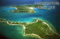 marie galante island | guadeloupe and marie galante , windward islands , aerial stock photo