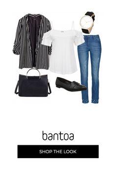 6bbcdec2032c A righe in bianco   nero  outfit donna Trendy per tutti i giorni