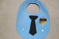 Police Officer Baby Bib by CarolynsClassics on Etsy, $20.00