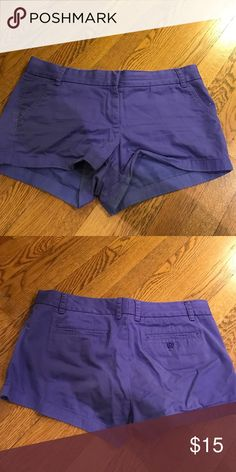 """Purple J. Crew 3"""" Inseam Chino Shorts These are my favorite kind of Shorts. They are comfortable, versatile, and come in different inseam length and colors. 100% cotton. J. Crew Shorts"""