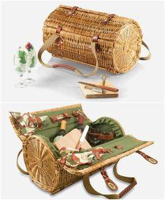 cesta de piquenique para quem ama vinhos