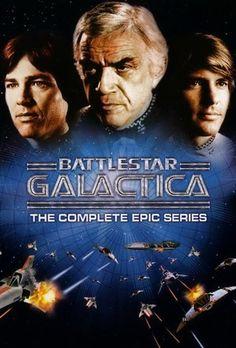 TV Series - Battlestar Galactica: The Complete Epic Series Sci Fi Tv Series, Movies And Series, Movies And Tv Shows, Film Movie, Kampfstern Galactica, Sean Leonard, Tv Retro, Tv Vintage, Battlestar Galactica 1978