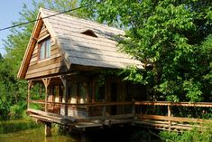 House made by Romanian craftsman Danut Hotea Cabins In The Woods, House In The Woods, House In Nature, Traditional Interior, House Made, Home Fashion, Beach Cottages, Rustic Style, House Design