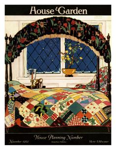 House & Garden Cover - November 1921 Poster Print  by Clayton Knight at the Condé Nast Collection