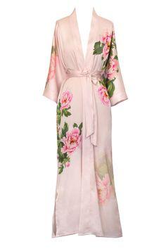 Peony & Bird Kimono Robe