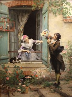"""coisasdetere: """"""""My Valentine"""" → Pierre Outin (French 1840 – 1899). """""""
