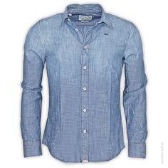 McGregor Hemd 1/1 Man DUKE LANCON Schlichtes Jeanshemd in dezenter Vintage-Optik.      Taille, gemesen bei...