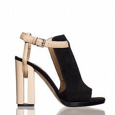 Nwt Black Reed Krakoff Melanie Cut Out Heel Shoes