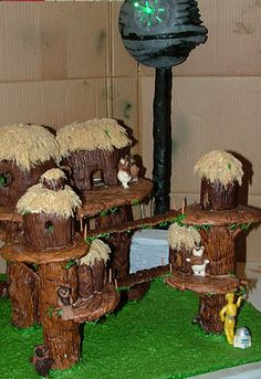 Ewok village gingerbread house.