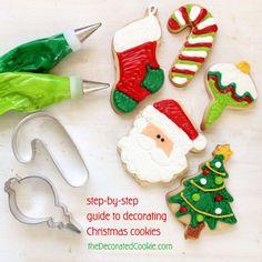 Sigue este tutorial para decorar galletas de Navidad