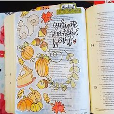I love how @sarahmichelle_hy traced out my free printables! Super festive and make me want to make something pumpkin the second I get home! Have you printed yours? Black n white and colored downloads. #biblejournaling #biblejournalingcommunity #documentedfaith #illustratedfaith