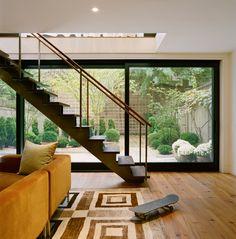 modern two floor extension in brooklyn heights.  platt dana architects.