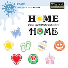 DIGITAL DOWNLOAD ... Seasonal Home vectors in AI, EPS, GSD, & SVG formats @ My Vinyl Designer #myvinyldesigner #deuxtoodesigns