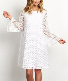 Look at this PinkBlush White Lace Shift Dress on #zulily today!