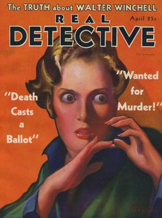 =-= 1932 Real Detective, True Crime, Mystery, Death, It Cast, Adventure, Magazine Covers, Contents, Magazines
