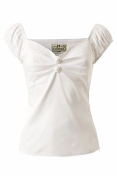 Collectif Clothing - Dolores top Carmen White