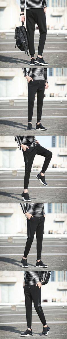 Casual fashionable temper pants pocket street youth youth charming pants
