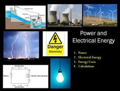 Power and Electrical Energy - Everything you need to teach Solving Circuit Diagrams is right here.  Please click here to view the Preview File to obtain a sense of my style, see how my power point lesson is structured.  In order, the lesson covers: - Power - Electrical Energy - Energy Costs - Calculations