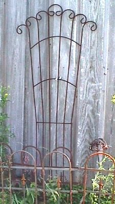 Wrought Iron Trellis...would love for my garden!