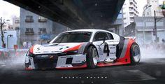 IMSA Audi R8 , Khyzyl Saleem on ArtStation at https://www.artstation.com/artwork/imsa-audi-r8
