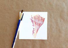 Original Gouache Lightning Whelk Seashell Painting by Amalia Hillmann of The Eclectic Illustrator Tactile Texture, Seashell Painting, Beach Flowers, Bristol Board, Gouache, Love Art, Sea Shells, Cyber, Lightning