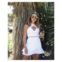 New spring outfit formula: The Liesl Two Piece + a bright turban + statement sunnies. (via @mystyleandgrace)
