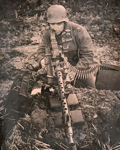 "adlerangriff:  ""Wehrmacht soldier with an MG-34  """