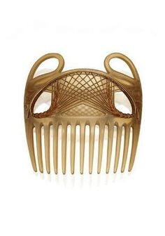 RENÉ LALIQUE | CARVED HORN AND ENAMEL HAIR COMB WITH ORIGINAL SKETCH  - CIRCA 1900.