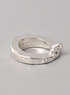 Young British Designers: Sterling Silver 'Chunky Carve' Ring by Imogen Belfield - Chunky. Textured. Unique. The ideal ring for day or night.