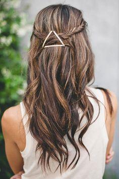 braids and metallic pins
