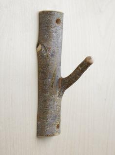 cut branch hook - would be cute in a nursery