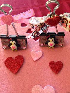 Valentine's Day Binder Clips.