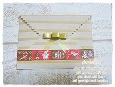 折り紙とマスキングテープでラッピング封筒♪