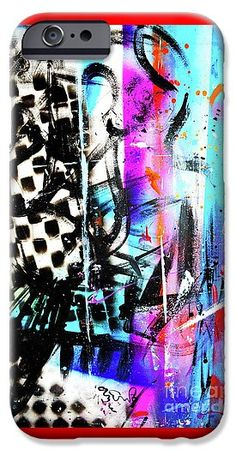 Wild IPhone 6s Case featuring the painting C.u. by Expressionistart studio Priscilla Batzell
