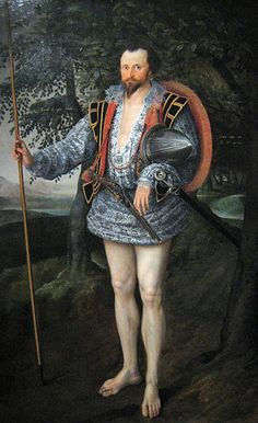 Captain Thomas Lee, portrayed by Marcus Gheeraerts II, showing his naked legs. On show in the exhibition High Society in the Rijksmuseum Amsterdam. www.kukullus.nl