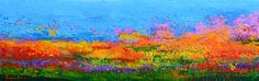 Painting - Abstract Field Of Wildflowers, Modern Art Palette Knife by Patricia Awapara ,
