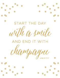 Start The Day With A Smile and End It With by prettychicsf on Etsy, $18.00