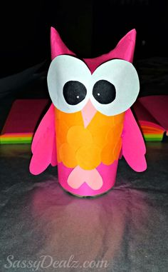 halloween craft toilet paper rolls | There you go! A cute owl toilet paper roll craft for the kids to do ...