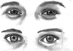 eyes people emotion pencil