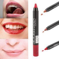 Makeup kissproof lip pencil cosmetic matte makeup long lasting effect Powdery Matte Soft Lipstick pencil +1pcs sharpener