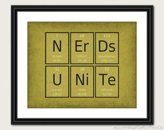 Periodic Table Word Poster  Nerds Unite  Wall Art by GetYourNerdOn, $20.00