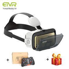 ETVR Mini Virtual Reality Goggles Immersive Cardboard VR Glasses Helmet For Inch Smartphone With Bluetooth Gamepad Vr Helmet, Virtual Reality Goggles, Bluetooth, Smartphone, Vr Box, 3d Glasses, Headset, 3 D, Lens
