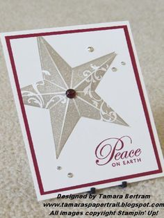stampin up christmas star   Christmas Star--The star on this is actually cut out, scored on all ...