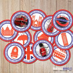 London Party Decorations / British Cupcake by MyPrintableMiracles