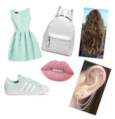 """mint night"" by azziahcobbfreeman on Polyvore featuring beauty, adidas, Otis Jaxon and Lime Crime"