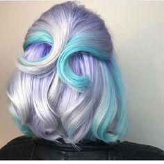 Pastel Beauty by Presley Poe , , , - Colorful Hair Pastel Hair, Purple Hair, Pelo Multicolor, Coloured Hair, Dream Hair, Rainbow Hair, Hair Art, Gorgeous Hair, Pretty Hairstyles