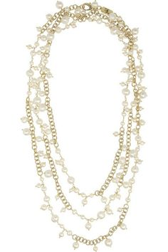 ROSANTICA Chimera gold-dipped freshwater pearl necklace