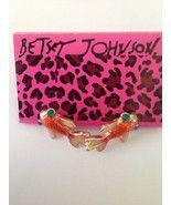Betsey Johnson Gold Fish Swimming Japanese Koi Carp Earrings